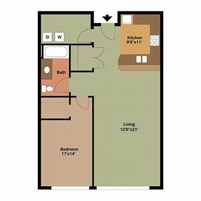 Floor Plan Apartment Bedroom Plans Bed Bath