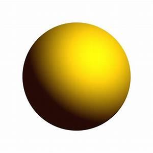 Yellow Sphere Free Stock Photo
