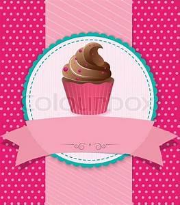 Vintage cupcake background | Stock Vector | Colourbox