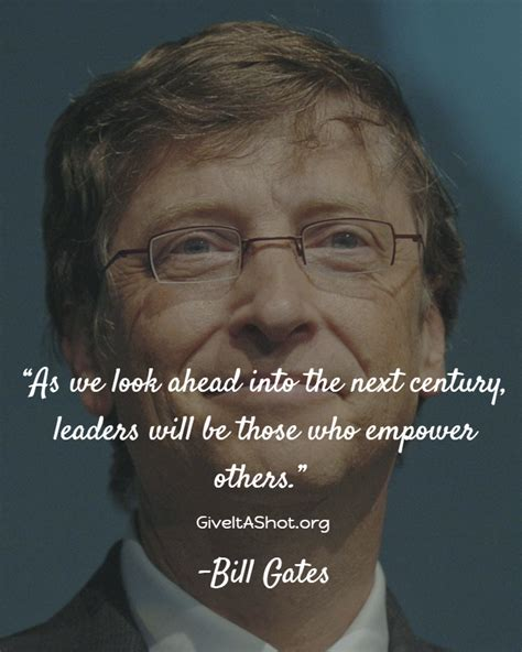 Bill Gates quote on leadership   Bill gates quotes ...