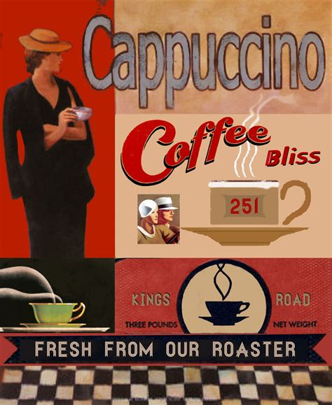 Find high quality printed vintage coffee posters at cafepress. Retro poster design for client...   Retro poster, Vintage food posters, Poster design