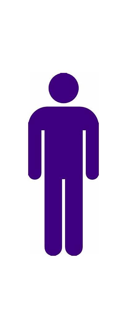 Purple Icon Toilet Male Sign Clip Clker