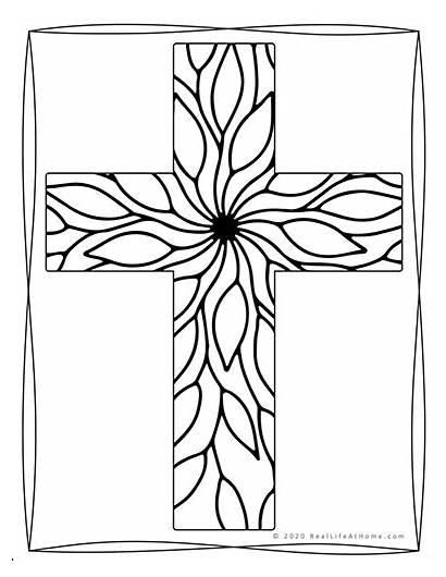 Coloring Cross Pages Religious Adults Printable Printables