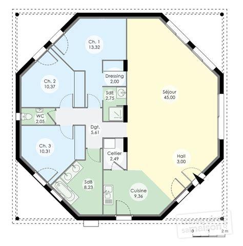 cuisine facile et originale maison octogonale dé du plan de maison octogonale