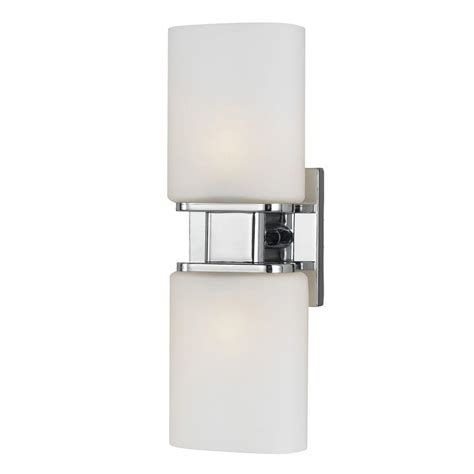 eurofase dolante collection 2 light chrome sconce 19418 018 the home depot