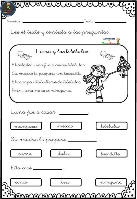 Fichas Para Trabajar La Comprensión Lectora (6