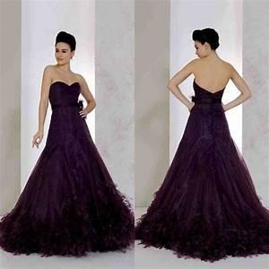 dark purple wedding dress wedding and bridal inspiration With purple wedding dresses