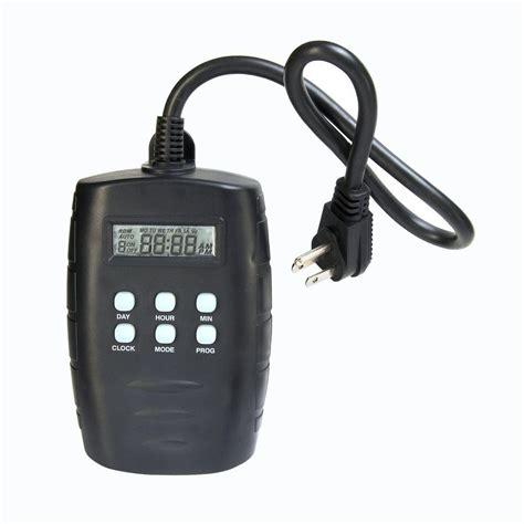 christmas light timer home depot westek 15 amp plug in outdoor digital timer tm15dolb the