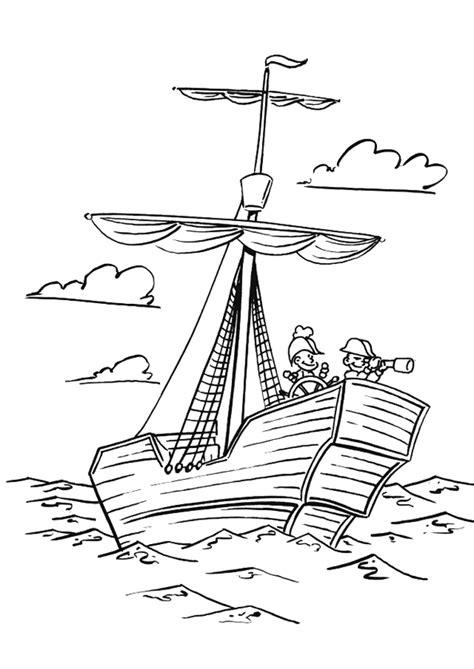 Dessin Bateau Corsaire by Coloriage D Un Bateau Avec Des Enfants Capitaines 224 Bord