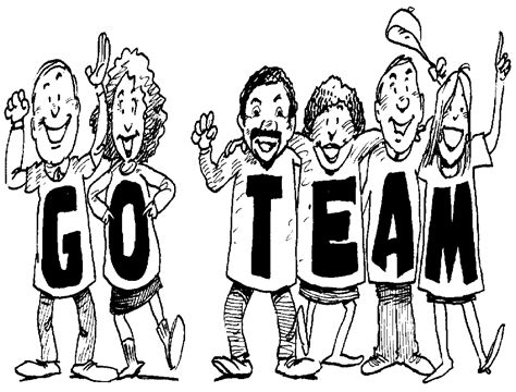 Let's Go Team Clipart