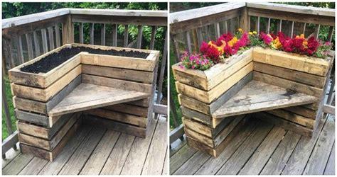 diy pallet bench  flower box  corner pallets pro