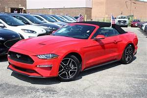 Pre-Owned 2019 Ford Mustang EcoBoost Convertible Red_ for Sale in Joliet | #X10653