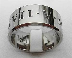 men39s personalised roman numerals ring love2have in the uk With roman numeral wedding ring