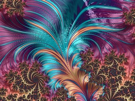 illustration feather fractal artistic design