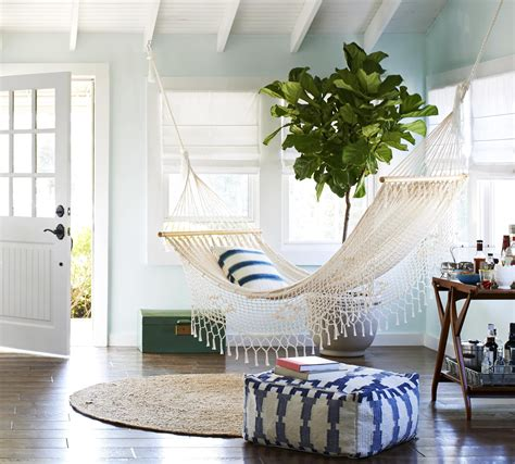 create  outdoor chill  space indoors   hammock