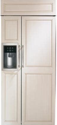 monogram zissdnss   stainless steel built  counter depth side  side refrigerator