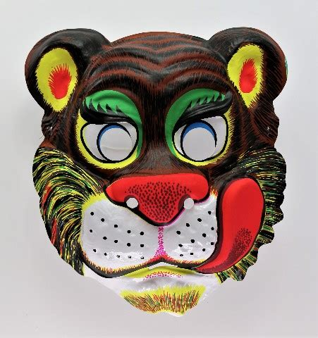 vintage lion tiger halloween mask zoo animals safari