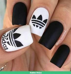 adidas nails nagels schattige nagels en gelnagels