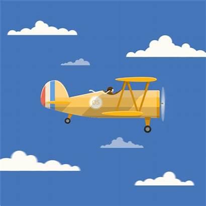 Plane Clipart Landing Airpoirt Animated Airplane Cartoon