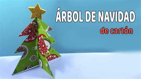 arbol de navidad de carton  decorar casas pequenas