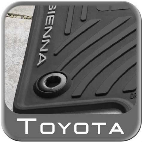 Toyota Avalon Floor Mats Replacement by 2013 2015 Toyota Rubber Floor Mats All Weather Black