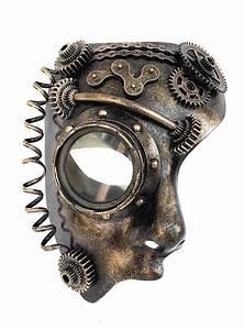 Steampunk half-mask android - maskworld com