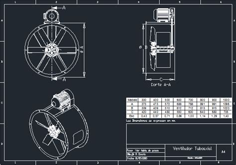 Tuboaxial fan in AutoCAD | CAD download (249.12 KB ...