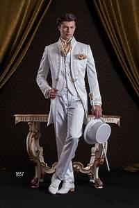 Costume Homme Mariage Blanc : costume mariage baroque pour homme en satin blanc brod e or ~ Farleysfitness.com Idées de Décoration
