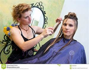Hair Stylist At Work Stock Images - Image: 20283594