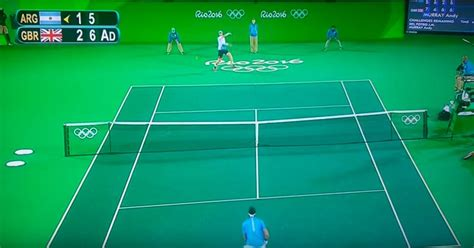 The Olympic Tennis Finals Were Played On A Giant Green