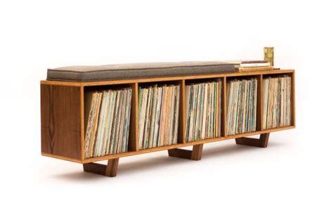 vinyl vintage storage vinyl lp storage bench lo fi edition with mid century modern 3289