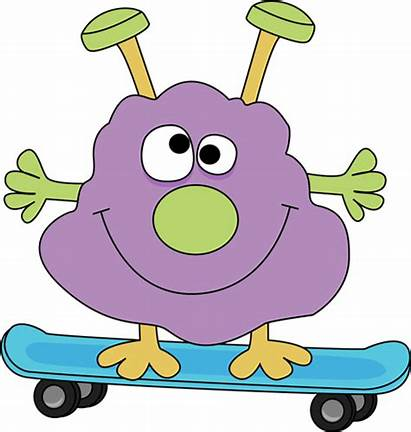 Monster Skateboard Clipart Clip Princess Skateboarding Graphics