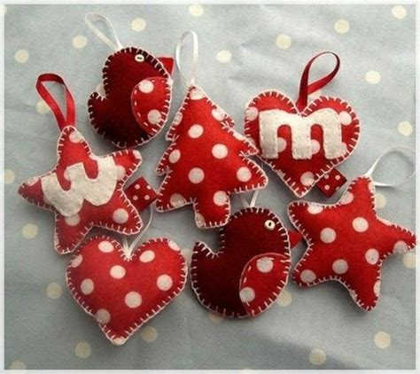 sewn christmas ornament homemade ornaments pinterest