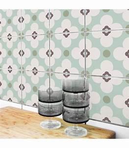 Carrelage Adhesif Pour Salle De Bain : stickers pour carrelage de cuisine ou salle de bain allegra ~ Mglfilm.com Idées de Décoration