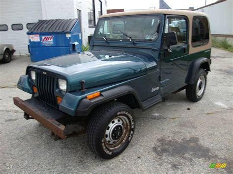 blue green jeep 1995 emerald green pearl jeep wrangler s 4x4 18992644
