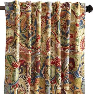 Pier One Decorative Pillows by Vibrant Paisley Curtain Transitional Curtains By