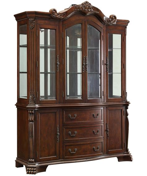 Brown Glass Buffet Hutch Steal A Sofa Furniture Outlet