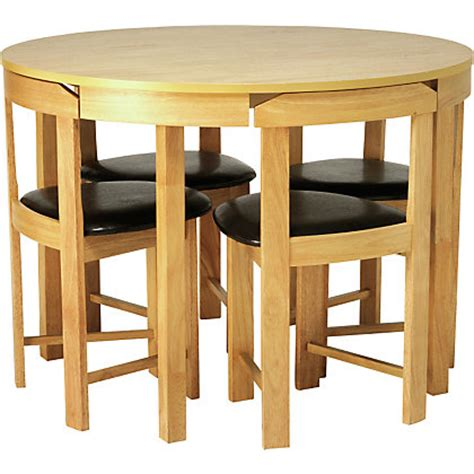homebase kitchen furniture hygena alena oak circular dining table and 4 chairs