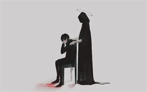 Sad Anime Boy Wallpaper - 2560x1600 anime boy the reaper sad wallpapers