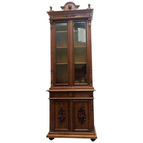 extraordinary ebonized antique louis philippe book cabinet for sale at 1stdibs