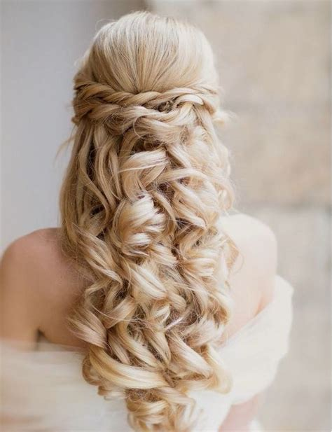 Braided And Curled Hairstyles by 18 Curly Wedding Hairstyles For 2015 Pretty Designs