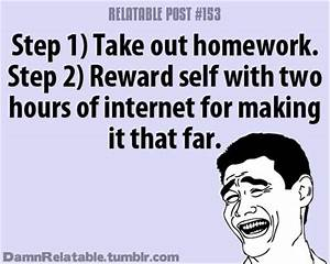doing your homework, funny quotes - Dump A Day