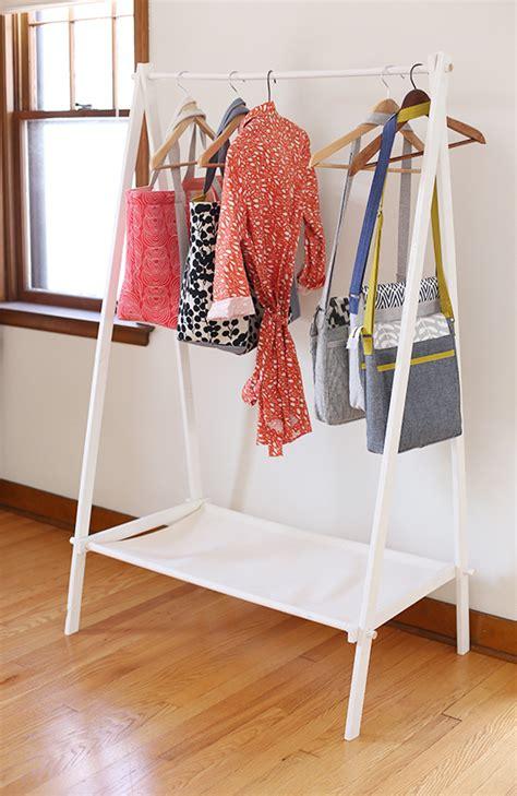 diy clothing rack diy garment rack noodlehead