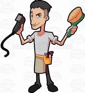 A barber showing off his tools #cartoon #clipart #vector # ...