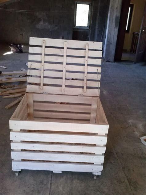diy wooden pallet storage box  pallets