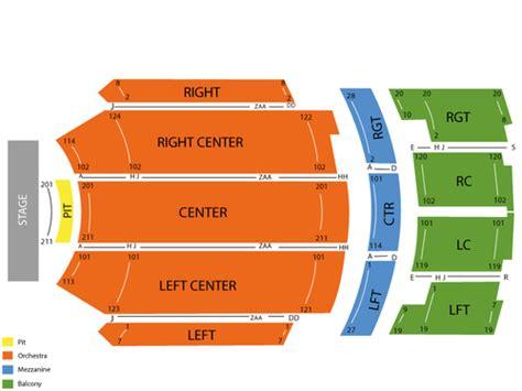 kirby center seating chart brokeasshomecom
