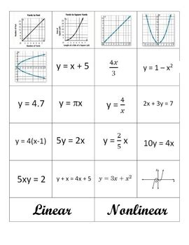 linear and nonlinear by middle school math aplenty tpt