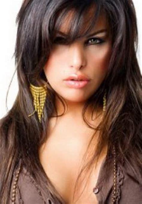 hairstyles for long dark hair