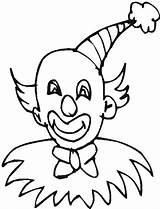 Clown Hat Coloring Pointy Wearing Krusty Luna Getdrawings sketch template
