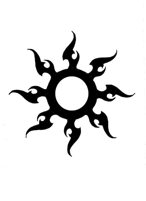 Tribal Sun Tattoo Designs | Best Tattoos Designs